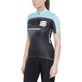 Sportful Gruppetto Pro Jersey Dam black/turquoise/green fluo